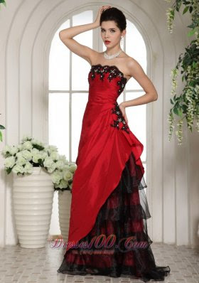 Evening dresses red and black