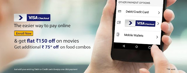 [Expired] Get Flat ₹150 discount on movie ticket Booking through Visa Checkout