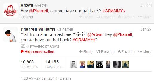 Pharrell Arby's tweet