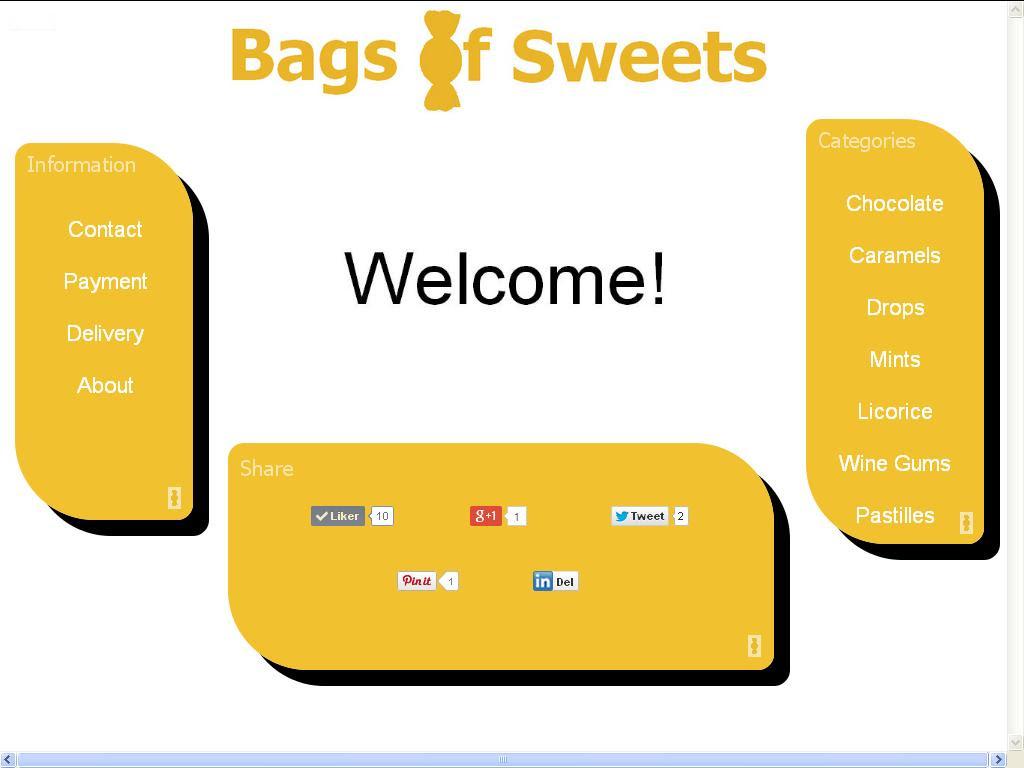 jobber med bags of sweets