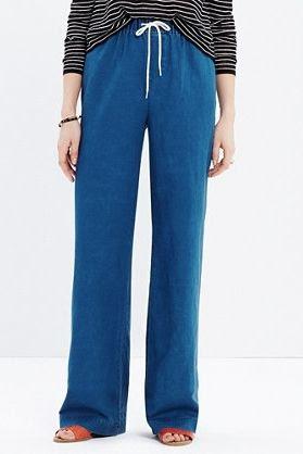 Madewell Indigo Drawstring Pants