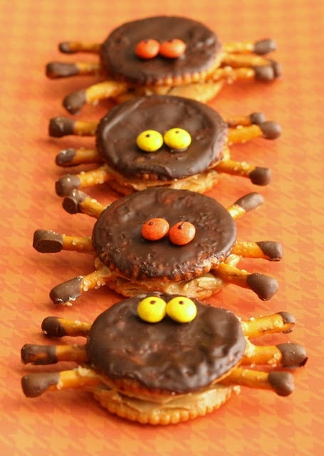 Ritzy Halloween Spiders - no recipe but picture is self explanatory!