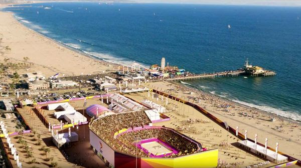 Santa Monica Pier is the proposed venue for beach volleyball during the 2028 Los Angeles Games.