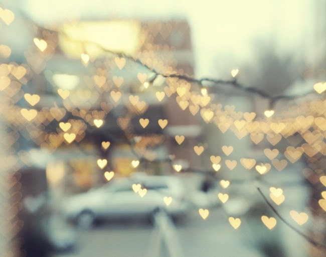 Holdling On To Love 8x10 metallic finish - Beautiful hearts light up the city - 20% off or BOGO