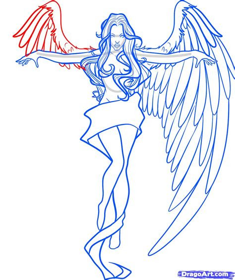 draw  angel cross step  step fantasy