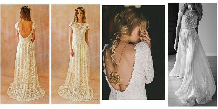 vestidos de noiva com influência boho