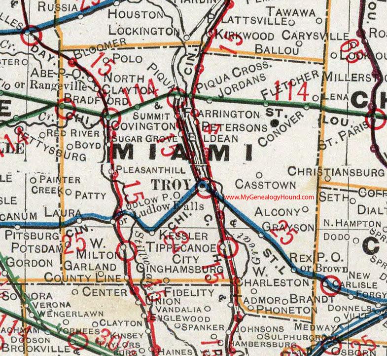 Miami Township Ohio Map.Miami County Ohio Map Time Zone Map