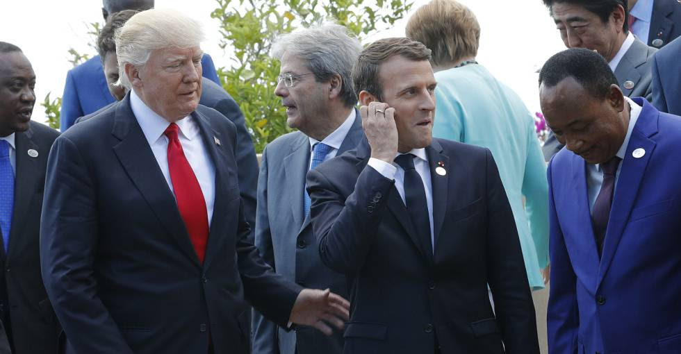 Reunión de los líderes mundiales en Taormina (Italia).