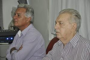 João Carlos e Carlos Orione, Federação Mato-grossense de Futebol (Foto: Robson Boamorte)