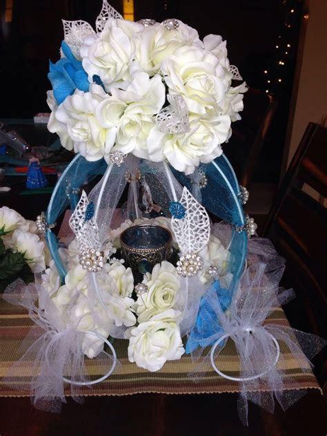 Cinderella Quince main table centerpiece   My Quinceañera