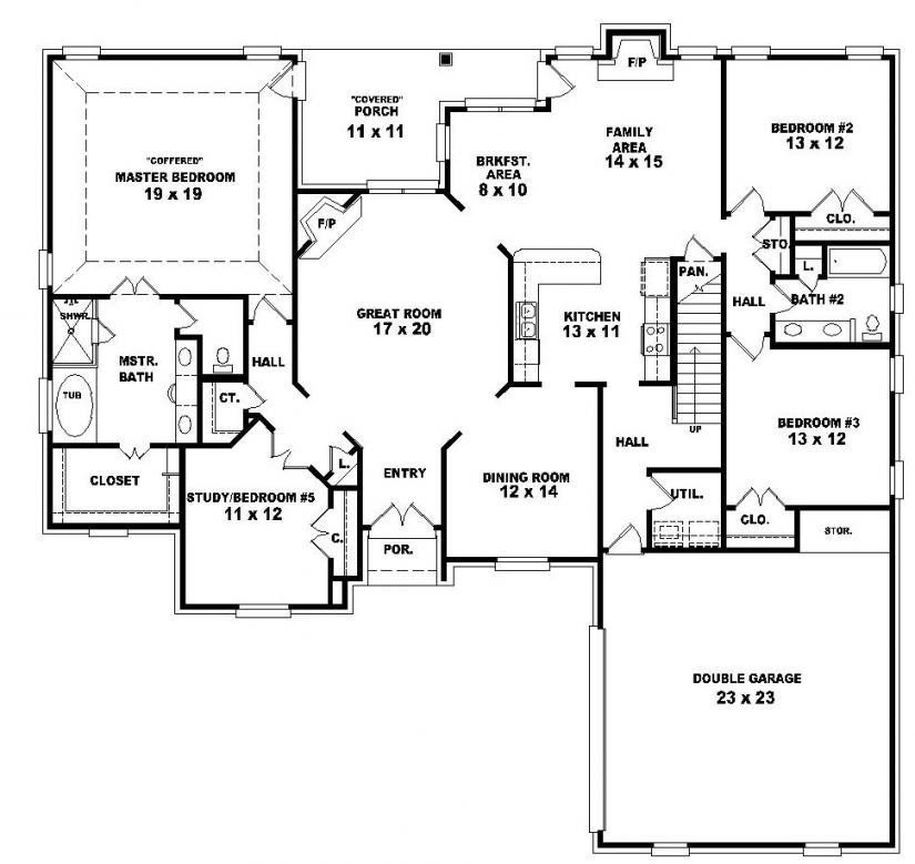 Inspirational 2  Story  4  Bedroom  3 Bath  House  Plans  New