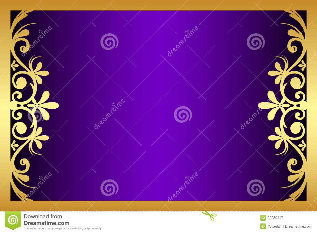 13 Purple And Gold Frame Design Images Blue And Gold Border