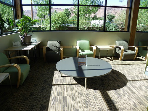 Corner seating - Grand County Public Library, Moab