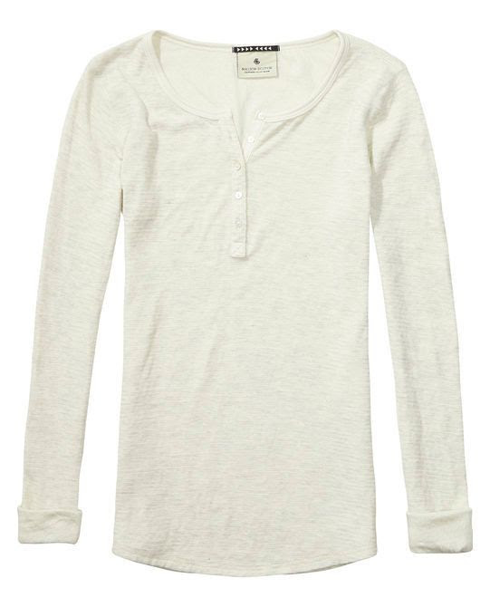 Maison Scotch Bonded Grandad Sweater