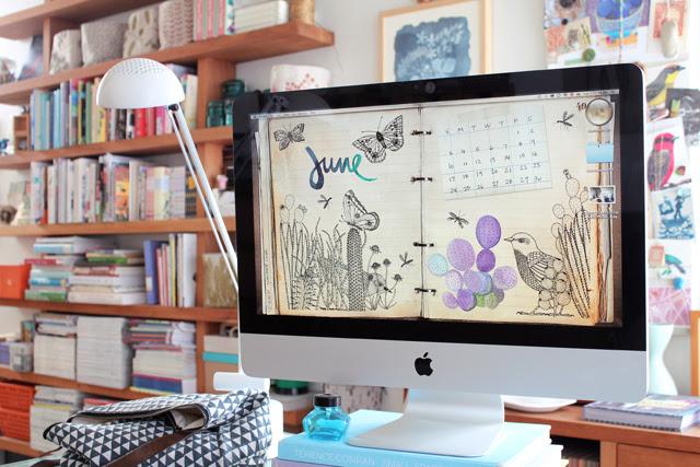 This month's free desktop calendar