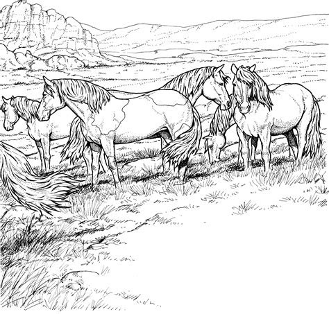 wild horses coloring pages getcoloringpagescom