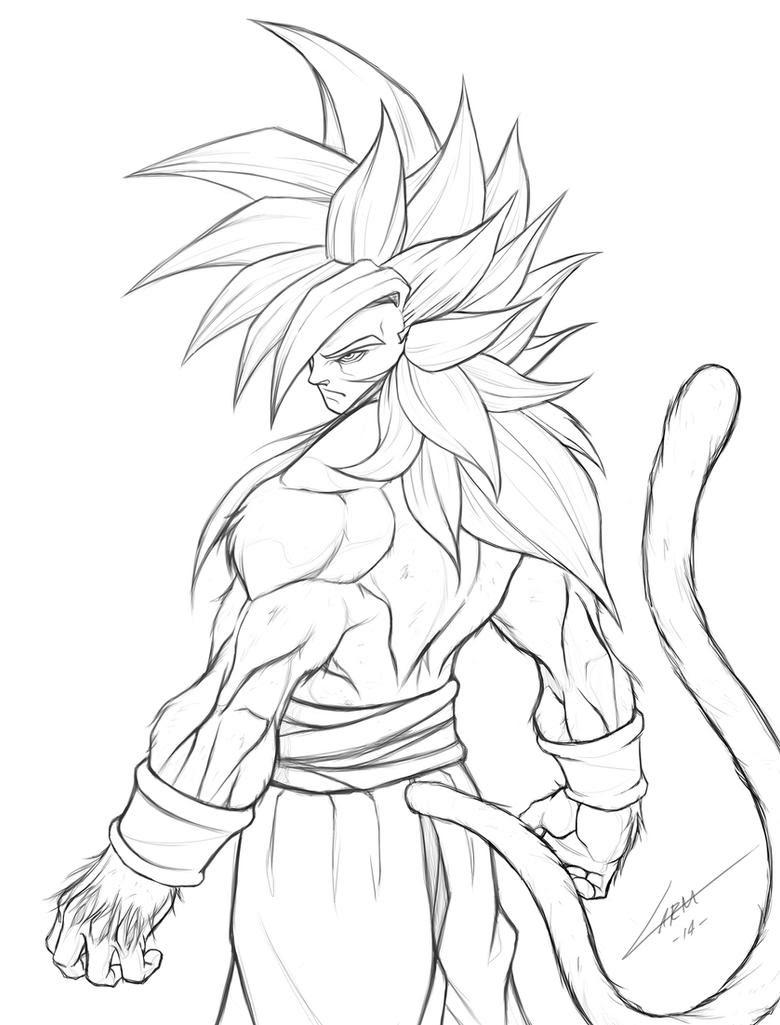 Pictures Of Goku Ssj4 And Vegeta Ssj4 Coloring Pages Kidskunstinfo