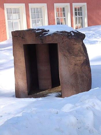 Umeå sculpture park/Sweden with Pillar of Ligh...