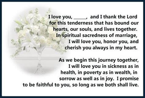 Marriage Vows   Christian Vows   Wedding Ceremony Decor