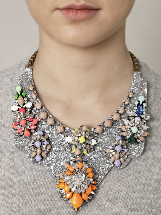 LE FASHION BLOG JEWELRY STATEMENT NECKLACES SHOUROUK NEON BRIGHT STONES GEMS SWAROVSKI CRYSTALS DIAMONDS BIB DECANCY MATCHES FASHION LONDON RAINBOW BRIGHT