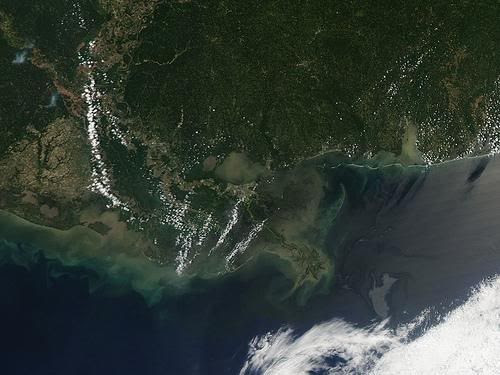 Satellite image of the oil leak