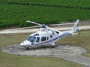 Agusta 109 version sanitaire