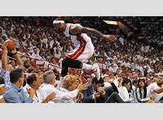 LeBron James blows Rihanna's mind by leaping 5 rows into