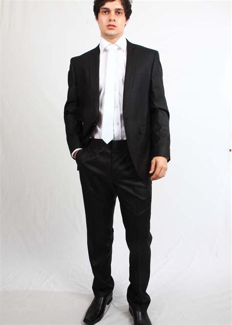 black suit white tie tuxedo italian formal wear model