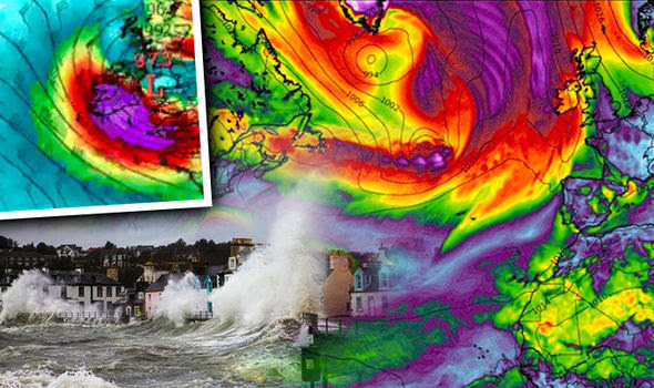 Storm Brian UK Advertencia de huracán