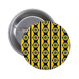 Sunflower Design Pinback Button
