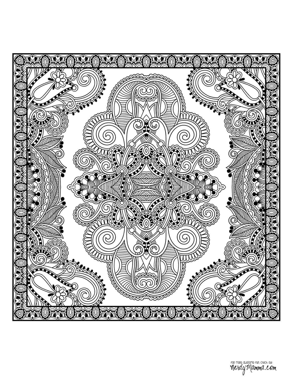 Teppich Mandala Malvorlage