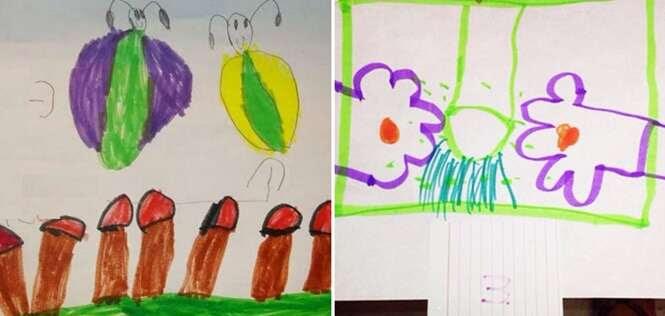 Desenhos de crianças que não são exatamente o que você está pensando