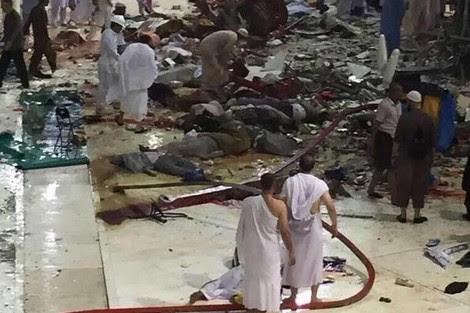 عشرات القتلى في حادث سقوط رافعة بالحرم المكي الشريف