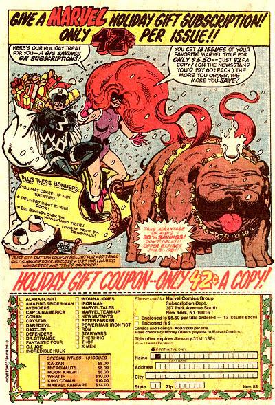 Marvel subscription ad