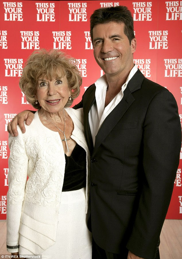 Missing her: Simon with his late mother Julie, who sadly passed away last month
