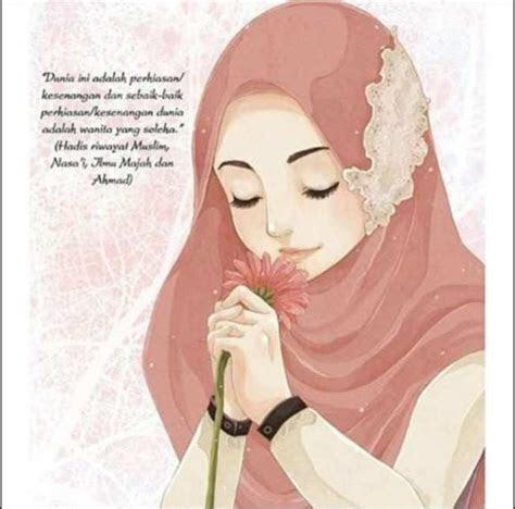 gambar wallpaper kartun hijab foto hijab kartun  gambar