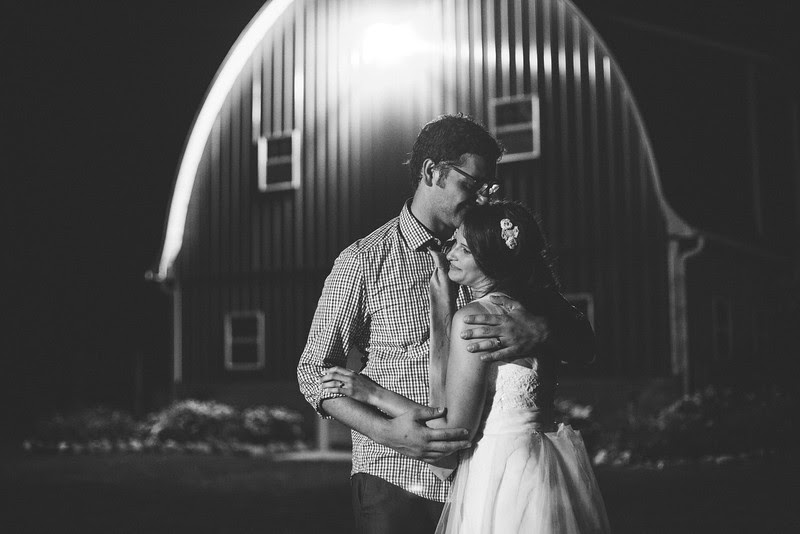 end of the night portraits outside at Busy Barns Adventure farms before a wedding at Busy Barns Adventure Farms in Fort Atkinson Wisconsin about 30 minutes east of Madison and an hour north of Chicago. Photo by Mindy Joy Photography.