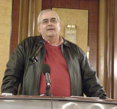 Mikel Buesa, durante una comparecencia pública.