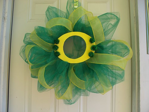 Oregon Ducks wreath