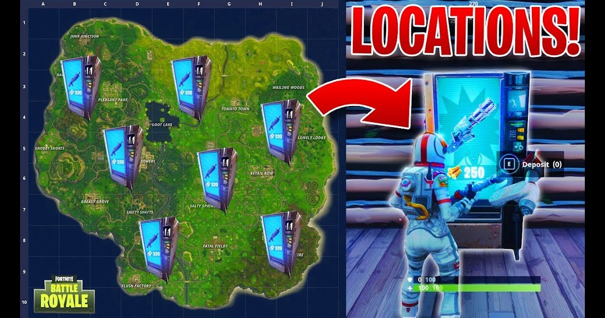 Fortnite V Buck Vending Machine Locations | Fortnite ...