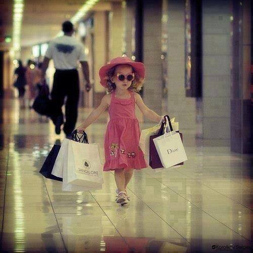 adorable, black, child, children, cute, dior, dress, fashion, girl, hat, kid, little, love, luxury, pretty, shopping, shopping bag, so cute, style, summer, sunglasses, young, shopping center