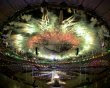 Fireworks explode over the Olympic Stadium during the closing ceremony of the London 2012 Olympic Games