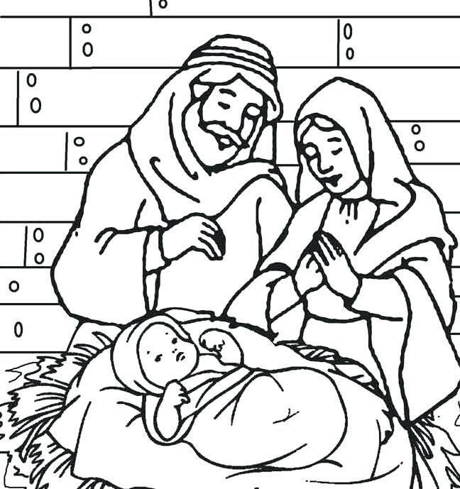 Christmas Coloring Pages Of Baby Jesus In A Manger at ...