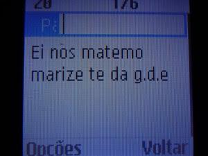 Mensagem encontrada em celular de suspeito anunciando a morte, em Santana (Foto: Herinaldo Nascimento/PM-AP)