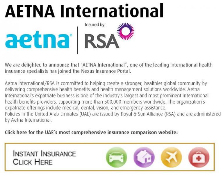 Nexus Announce AETNA International joined the Insurance ...