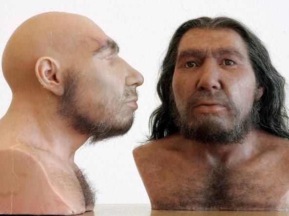 Ricostruzione dell'aspetto dei neanderthal (Ansa)