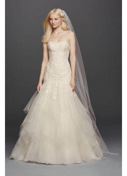 Oleg Cassini Strapless Mermaid Wedding Dress   David's Bridal