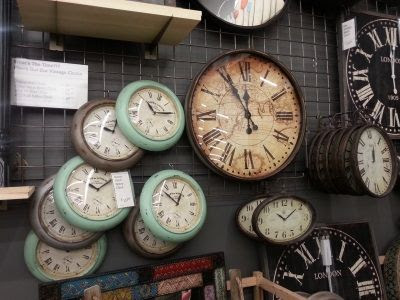 Vintage Wall Clocks in Cost Plus World Market, Livingston NJ