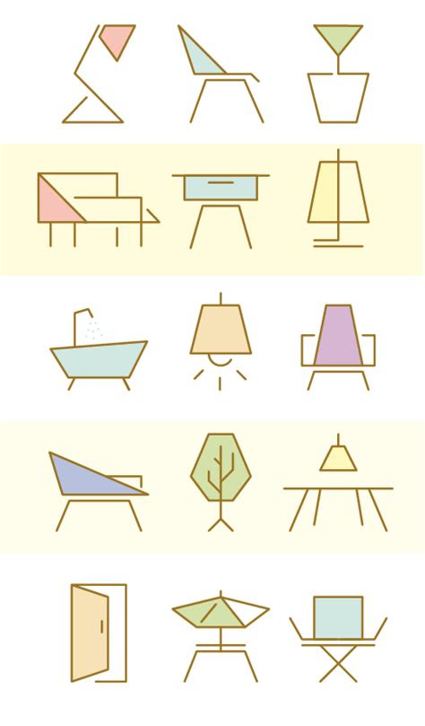 furniture icon set  manuela naranjo interior design
