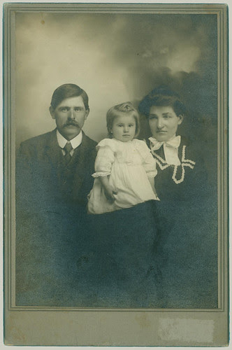 Cabinet Card Family of three